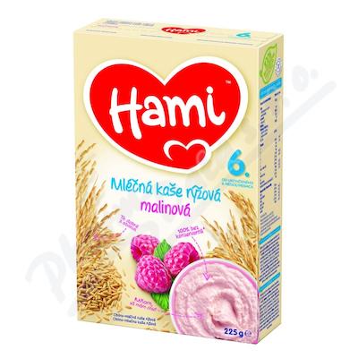 Hami kaše ml.rýžová malinová 225g