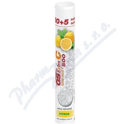 GS Extra C 500 šumivý citron tbl.20+5