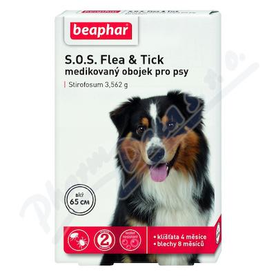 SOS Flea and Tick 3.562g obojek pro psy 65cm