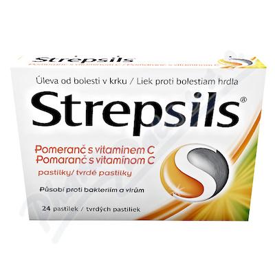 Strepsils Pomeranč s vitaminem C pas.24