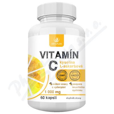Allnature Vitamín C 1000mg 60 kapslí