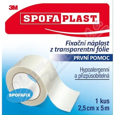 3M Spofaplast 432 Fix.náplast transp.fol.5mx25mm