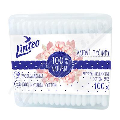 Vatové tyčinky papírové LINTEO box 100ks