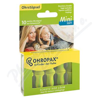 Chránič sluchu Ohropax MINI SOFT 10 ks