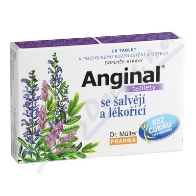Anginal se šalvějí+lékořicí tbl.16 Dr.Müller