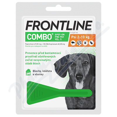 Frontline Combo Spot on Dog S pipeta 1x0.67ml