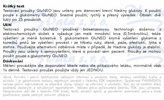Proužky diagnostické Gluneo 50ks (2x25ks)