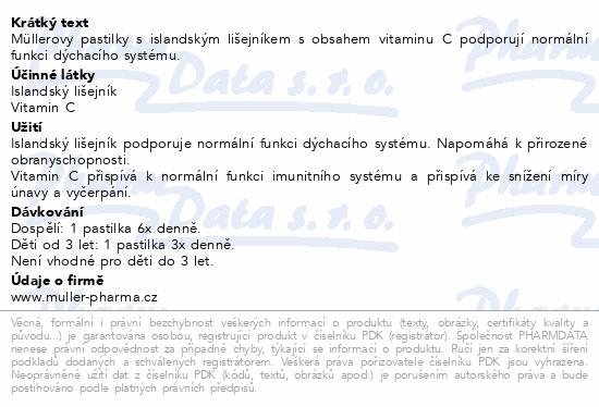 Müllerovy pastilky s isl.lišejníkem 36ks CZ/SK
