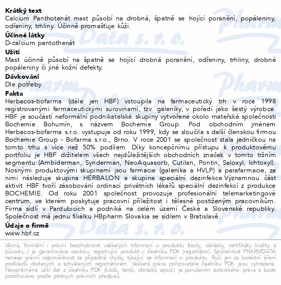 Herbacos Calcium panthotenát mast 100ml